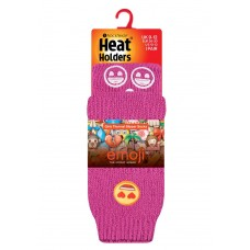 Heat Holders Girls Emoji Heart Socks 0% VAT Winter Clothing