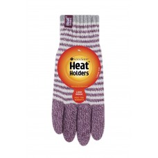 Heat Holders Ladies Purple Stripe Gloves Winter Clothing