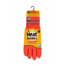 Heat Holders Mens Neon Thermal Gloves  Winter Clothing