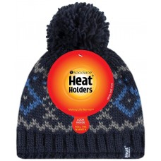 Heat Holders Mens Navy Hat Winter Clothing