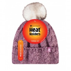 Heat Holders Ladies Rose Pom Pom Hat Winter Clothing