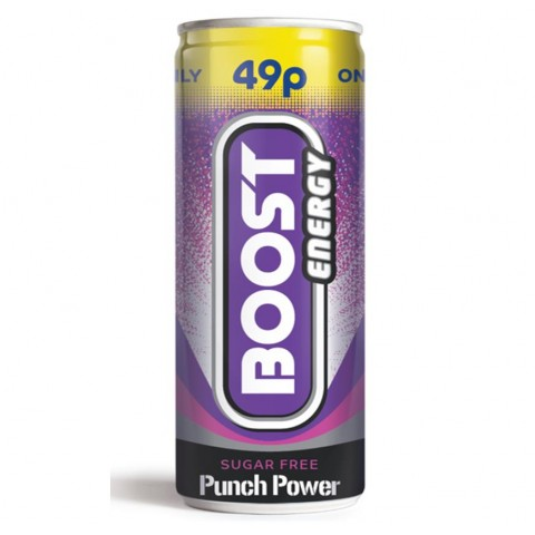 Boost Energy Punch Power 49p PM Can 250ml Drinks