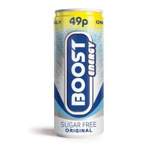 Boost Energy Sugar Free 49p PM Can 250ml