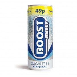 Boost Energy Sugar Free 49p PM Can 250ml Drinks