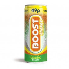 Boost Energy Exotic Fruits 49p PM Can 250ml Drinks