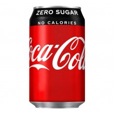 Coca Cola Zero Sugar Can 330ml Drinks