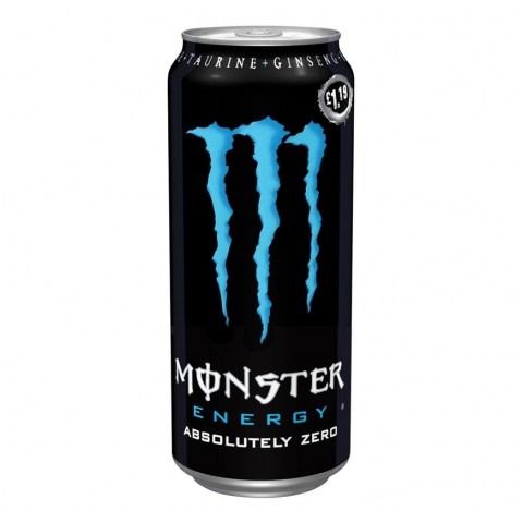 Monster Absolute Zero £1.19 PM Can 500ml Drinks