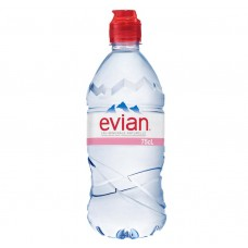 Evian Water Sports Cap Bottle 750ml Drinks