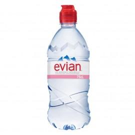 Evian Water Sports Cap Bottle 750ml Drinks