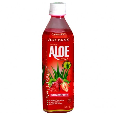 Just Drink Aloe Strawberry Bottle 500ml Drinks