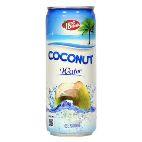 Just Drink Coconut Water Can 330ml Drinks