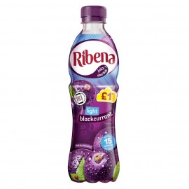 Ribena Blackcurrant Light £1 PM Bottle 500ml Drinks