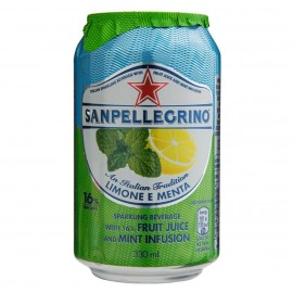 San Pellegrino Limonata E Menta Can 330ml Drinks