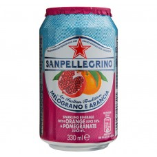San Pellegrino Melograno E Arancia Can 330ml Drinks