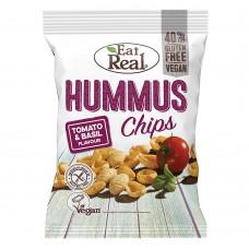 Eat Real Tomato & Basil Hummus Chips 40g Food