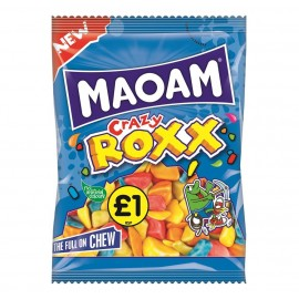 Maoam £1 PM Crazy Roxx 150g 12 pack Food