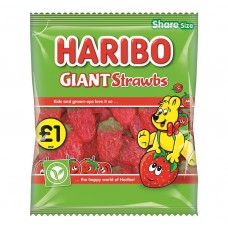 Haribo £1 PM Giant Strawbs 180g 12 pack Food