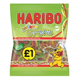 Haribo £1 PM Sour Rainbow Spaghetti 160g 12 pack Food
