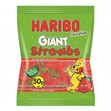 Haribo 50p PM Giant Strawbs 70g Food