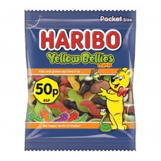 Haribo 50p PM Yellow Bellies Mini 70g Food
