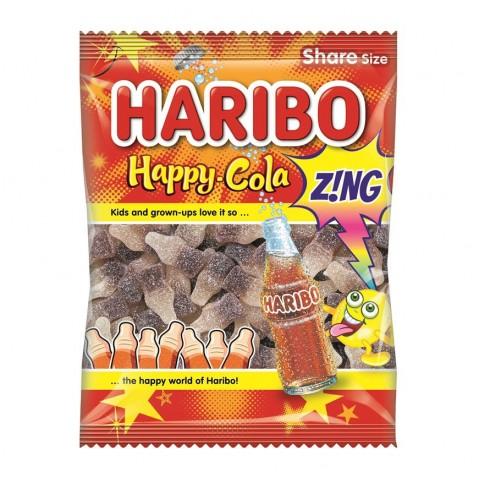 Haribo Happy Cola Zing Bottles 140g Food