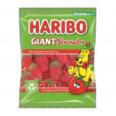 Haribo Giant Strawbs 140g Food