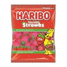 Haribo Squidgy Strawbs 140g Food