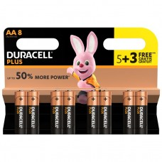 Duracell AA Plus Power 5 + 3 FREE Pack Display of 12 Hardware
