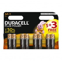 Duracell AA Plus Power 5 + 3 FREE Pack Display of 24