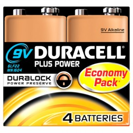 Duracell 9v Plus Power 4 Multi Pack   Hardware