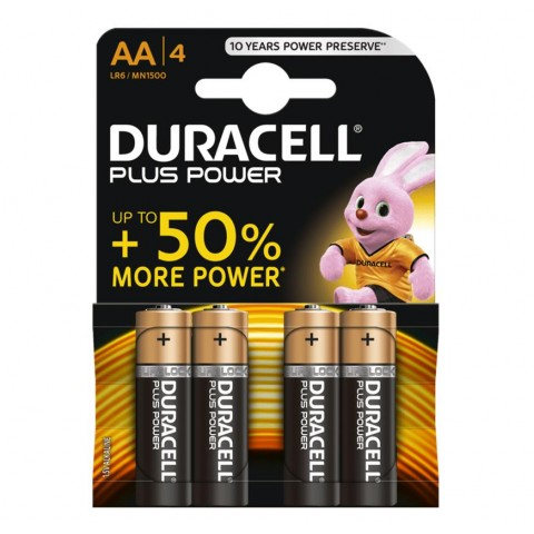 Duracell AA Plus Power 4 Pack Hardware
