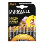 Duracell AAA Plus Power 5 + 3 FREE Pack Hardware