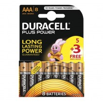 Duracell AAA Plus Power 5 + 3 FREE Pack