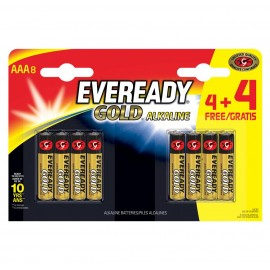 Eveready Gold AAA 4 + 4 FREE Hardware