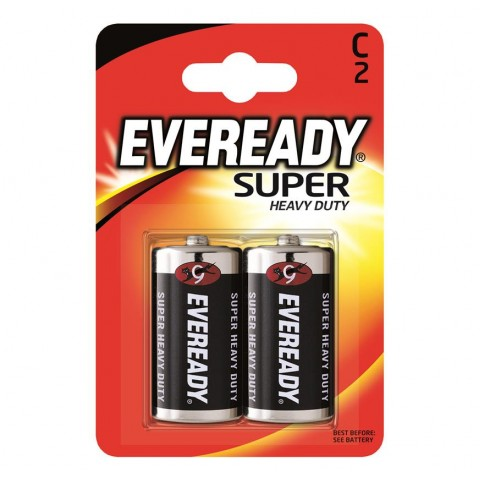 Eveready C Super Heavy Duty 2 Pack Hardware