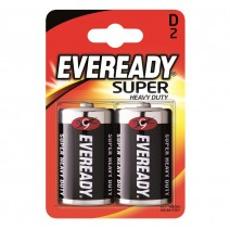 Eveready D Super Heavy Duty 2 Pack