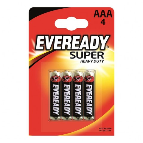 Eveready AAA Super Heavy Duty 4 Pack Hardware
