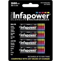 Infapower AA Rechargeable Batteries 2500mAh