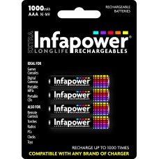 Infapower AAA Rechargeable Batteries 1000mAh Hardware
