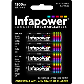 Infapower AA Rechargeable Batteries 1300mAh Hardware