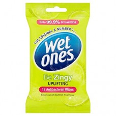 Wet Ones Zingy Antibacterial Wipes Health Care