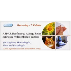 Aspar Hayfever & Allergy Relief 10mg 7s Health Care