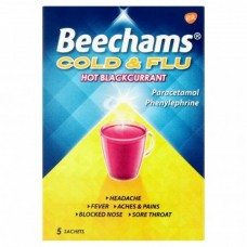 Beechams Blackcurrant 5 Sachet 5s Health Care