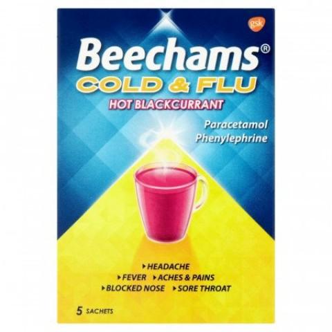 Beechams Blackcurrant 5 Sachet 5s Health Care