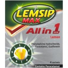 Lemsip Max All in One Lemon Sachet 4s Health Care