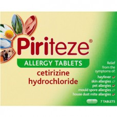 Piriteze Allergy Tablets 7s Health Care