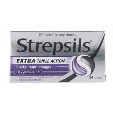 Strepsils Triple Action Blackcurrant Health Care