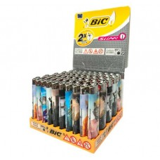 Bic Slim J23 Flint Decor Refillable Lighter Smokers