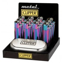 Clipper Metal Icy Colours Flint Lighter