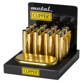 Clipper Metal Gold Refillable Lighter Smokers
